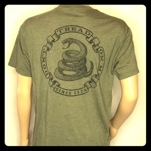 "Other - Olive green ""don't tread on me"" t-shirt snakes"